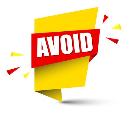 A banner avoid isolated on plain background Illustration