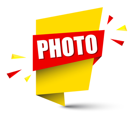 A banner photo isolated on plain background