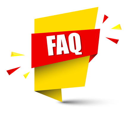 A banner faq isolated on plain background