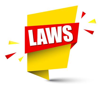banner laws Vector illustration.