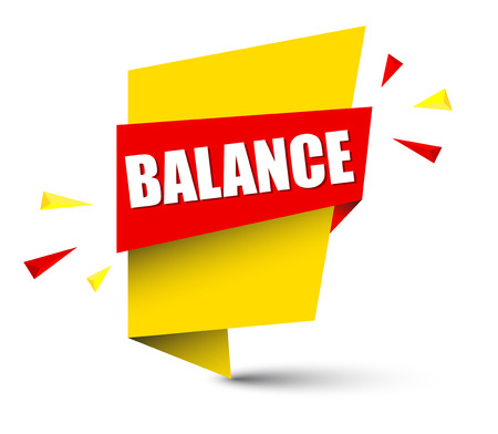 Colorful balance banner. Stock Illustratie