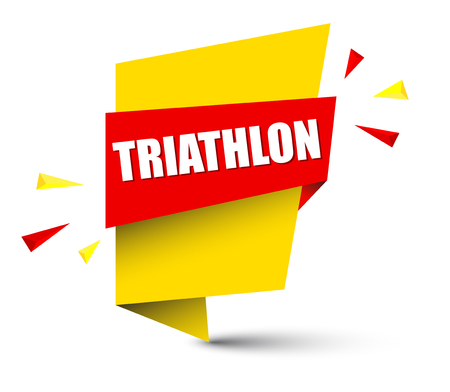 banner triathlon Vector illustration.