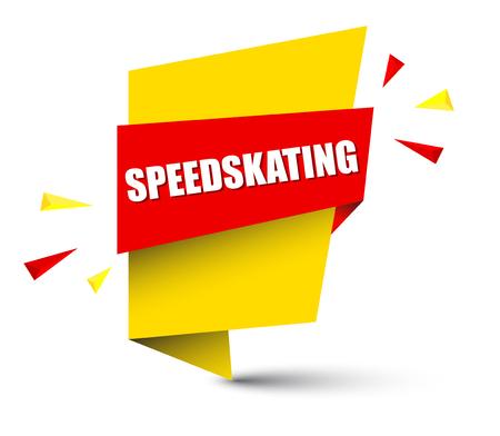 banner speedskating Vector illustration.