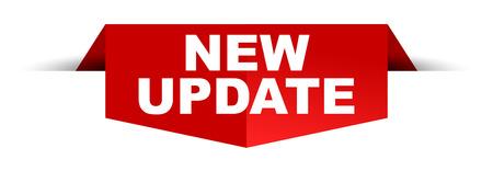 Neue Update-Banner-Design-Vorlage Vektorgrafik