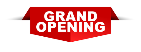 Grand opening banner design template