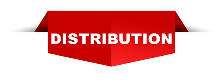 banner distribution Ilustración de vector