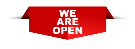 banner we are open