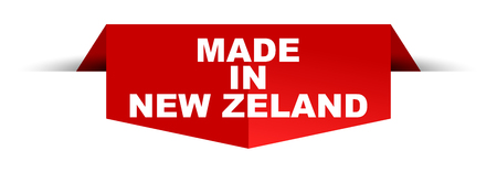 banner made in new zeland Archivio Fotografico - 102546150