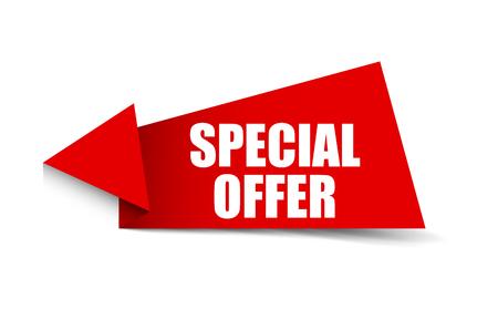 banner special offer Stock Illustratie
