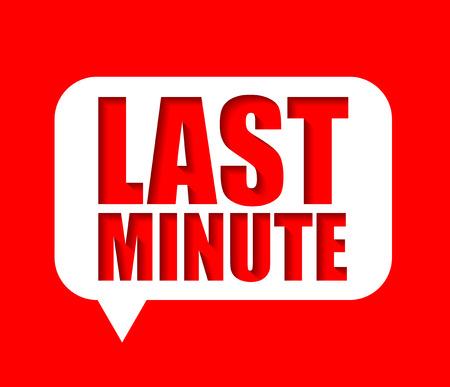 banner last minute Illusztráció