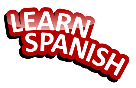 banner learn spanish Stock Illustratie