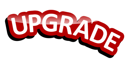 banner upgrade Vector Illustration