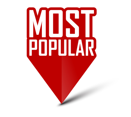 banner most popular Illustration