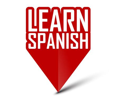 banner learn spanish Vektoros illusztráció