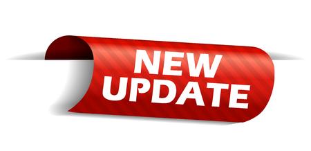 banner new update Stock Illustratie