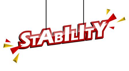 stabilité des balises rouges et jaunes Vecteurs