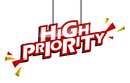 red and yellow tag high priority
