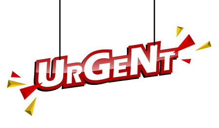 red and yellow tag urgent