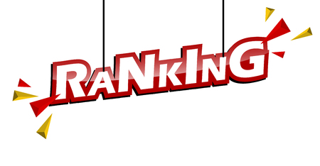 red and yellow tag ranking Banque d'images - 111797540