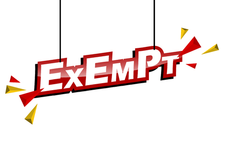 red and yellow tag exempt