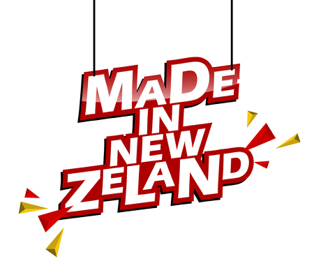 red and yellow tag made in new zeland
