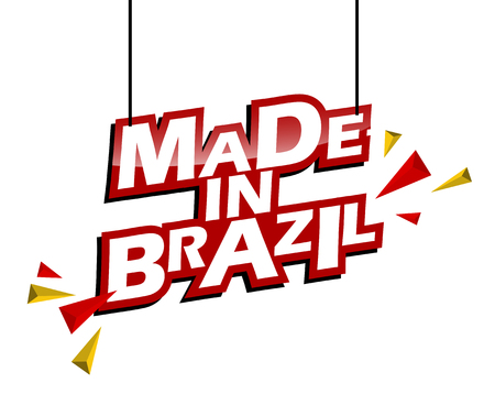 red and yellow tag made in brazil
