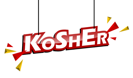 red and yellow tag kosher Illustration