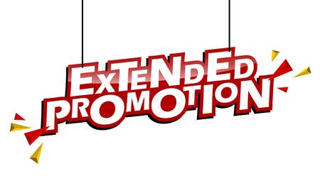 red and yellow tag extended promotion Illusztráció