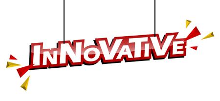 roter und gelber Tag innovativ