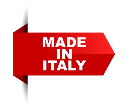 banner made in italy Vector Illustratie