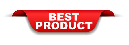 banner rojo mejor producto Ilustración de vector
