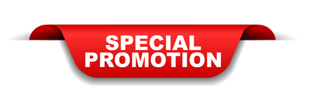 red banner special promotion Vectores