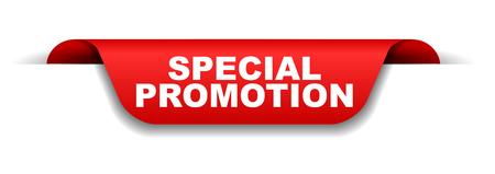 red banner special promotion Illustration