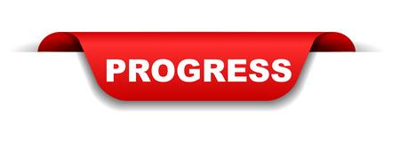 red banner progress Vettoriali
