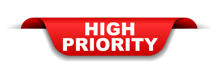 red banner high priority