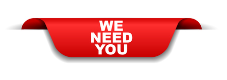 red banner we need you Illustration
