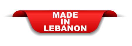 red banner made in lebanon