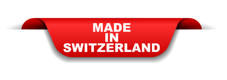 red banner made in switzerland