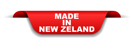 red banner made in new zeland