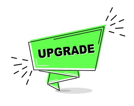 green flat line banner upgrade