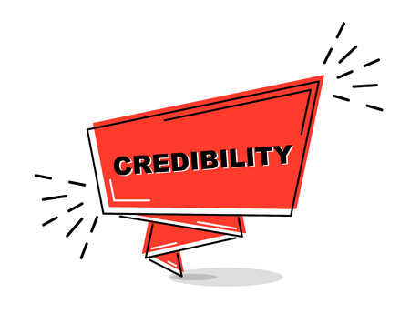red flat line banner credibility