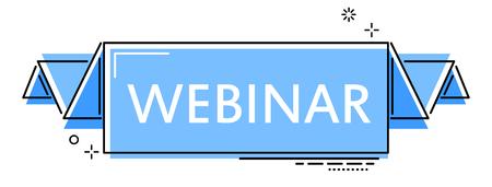blue flat line banner webinar