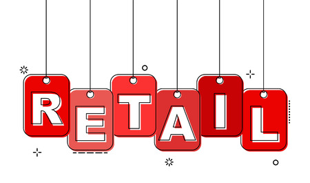 red flat line tag retail
