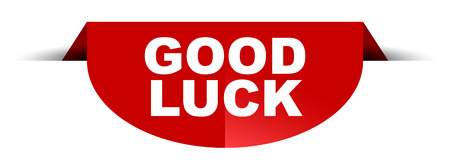 red vector round banner good luck Illustration