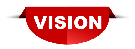 red vector round banner vision Illusztráció