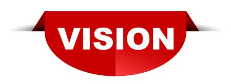 red vector round banner vision Illustration