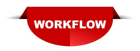 red vector round banner workflow Illustration