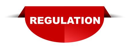 règlement de bannière ronde de vecteur rouge Vecteurs