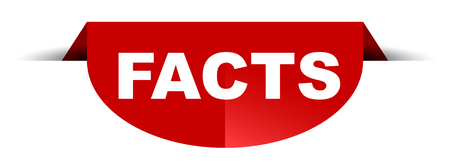 red vector round banner facts
