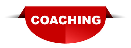 red vector round banner coaching
